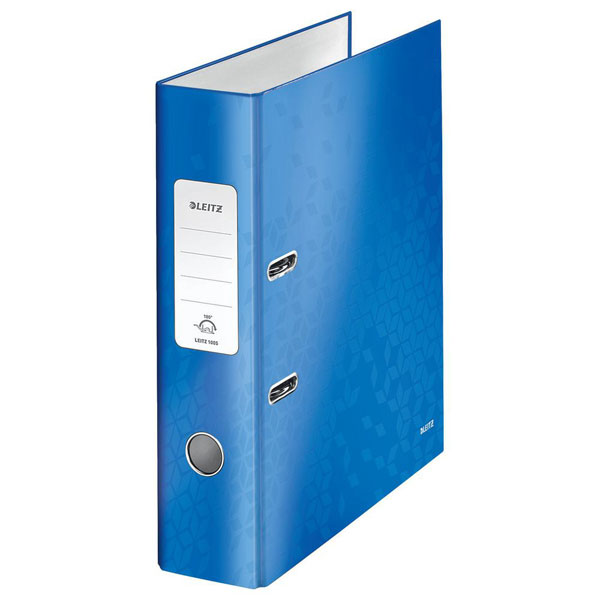 1005-00-36 - Leitz WOW Blue wide spine lever arch file - Box of 10 - A4 Format